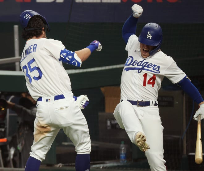 Dodgers' Cody Bellinger dislocated his shoulder celebrating Game 7 home run