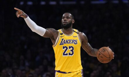 Los Angeles Lakers star LeBron James wins AP Male Athlete of Year award