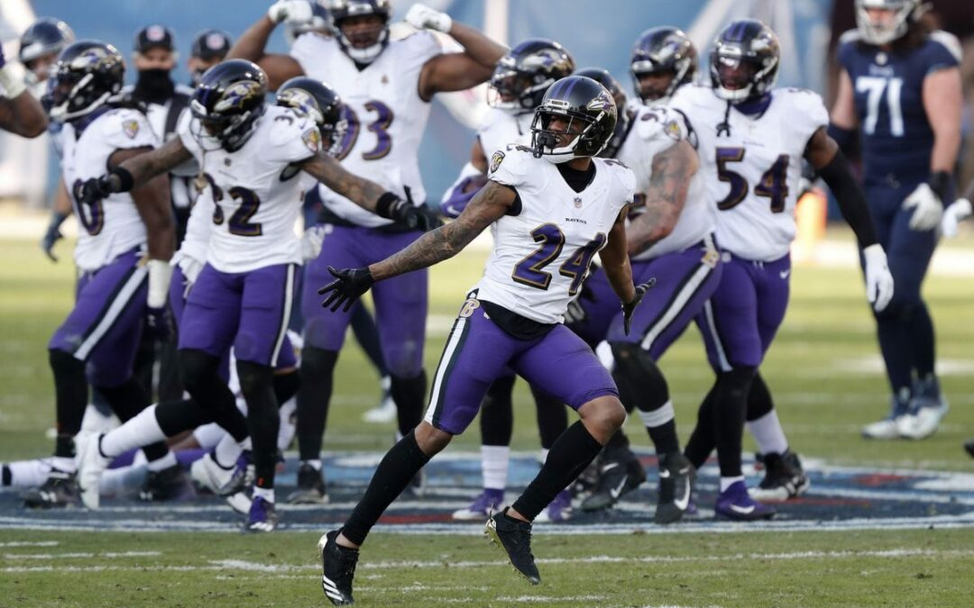 Baltimore Ravens' celebration on Tennessee Titans' logo about 'team unity' not disrespect